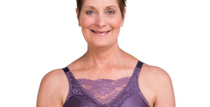 Trulife Jessica Cami Non Underwire Mastectomy Bra Amethyst 4019