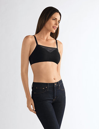 Amoena Amber Padded Non Underwire Soft Mastectomy Bra Black 44259