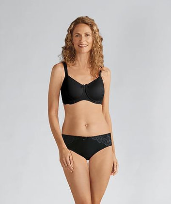 Amoena Lilly Padded Non Underwire Mastectomy Bra - Black 44209