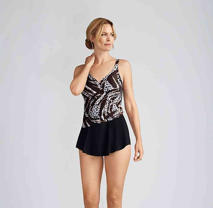 Amoena Corfu Sarong Swimsuit 70818 Black / Copper 12, 14, 22