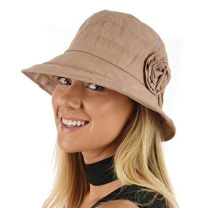 My Fair Lady Cloche Sunhat - dusty pink
