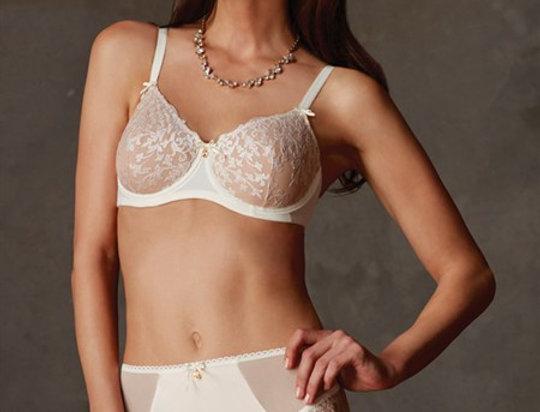 Amoena Julie Underwire Mastectomy Bra - Off White 44166