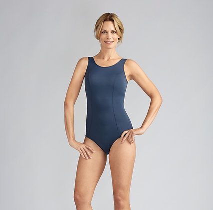 Amoena Rhodes One Piece Mastectomy Swimsuit Dark Blue 70842