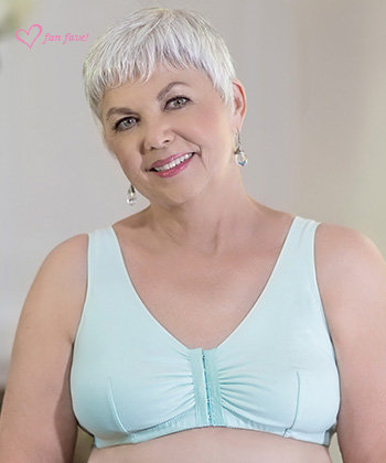 ABC Leisure Front Opening Non Underwire Mastectomy Bra Mint
