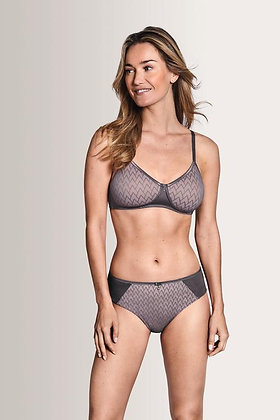 Amoena Maya Padded Non-wired Padded Mastectomy Bra - Grey / Rose 44545