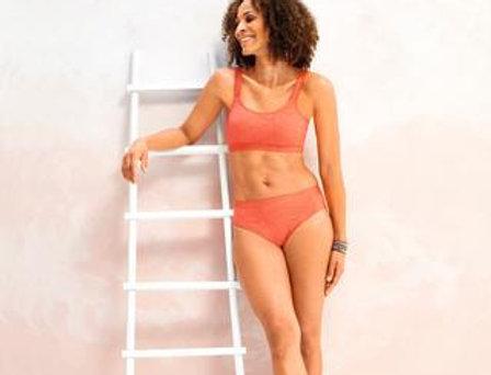 Amoena Panama Non-Wired Mastectomy Bikini Set Dark Coral 71388