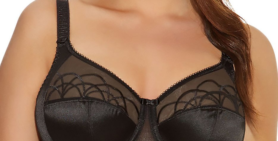Elomi Cate Underwire Full Cup Banded Bra EL4030 Black (Non pocketed)