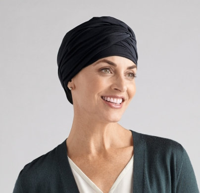 Amoena Daylily Knit Headscarf Black 43810