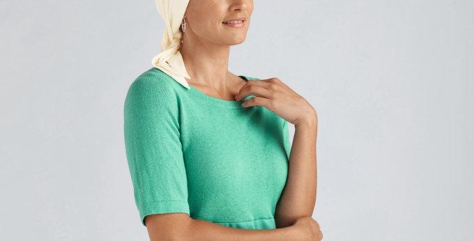 Amoena Clover Headscarf - Ivory