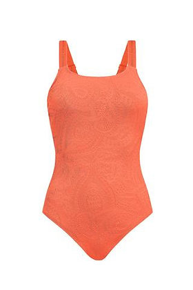 Amoena Panama One-Piece Mastectomy Swimsuit Dark Coral 71387