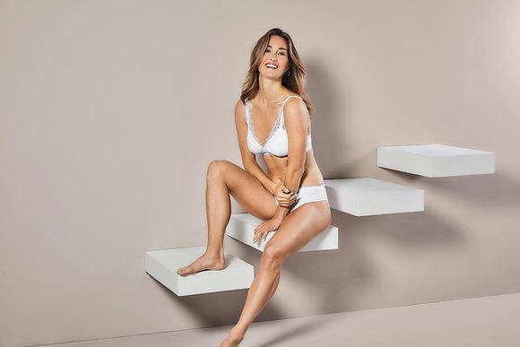 Amoena Amanda Non-Wired Mastectomy Bustier - White 44537
