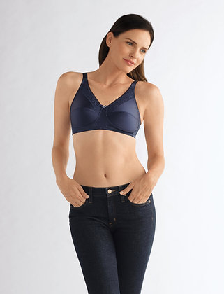Amoena Nancy Non Underwire Mastectomy Bra Dark Blue B-F