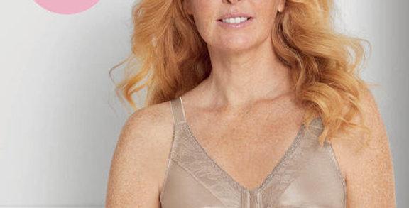 Amoena Nancy Non-wired Front Closure Mastectomy Bra -Light Nude 44739