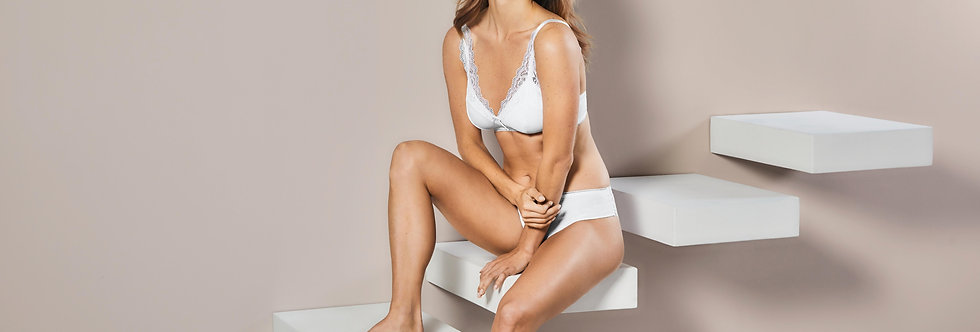 Amoena Amanda Non-Wired Mastectomy Soft Bustier - White 44537