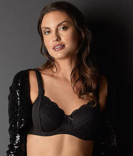 Amoena Madeleine Flexi Underwire Mastectomy Bra Black (sizes DD & E only)