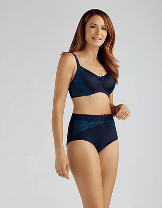 Lilly Padded Non Underwire Mastectomy Bra Navy 12C