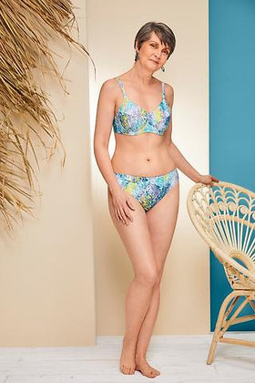 Amoena California Underwired Mastectomy Bikini Set Yellow/Aqua 71370