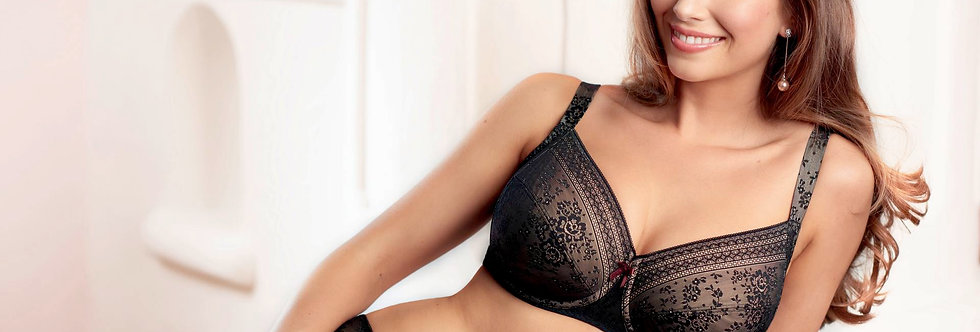 Anita Fleur Large Cup Underwired Bra Black 5653 (Non Pocketed)