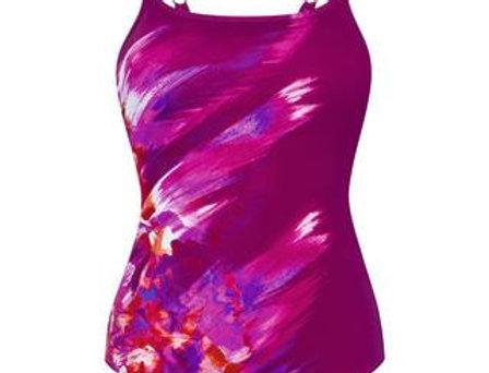 Amoena La Paz One Piece Mastectomy Swimsuit Berry/Pink 71384
