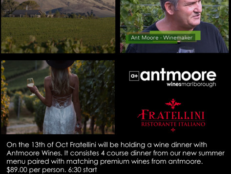 Ant Moore Wine and Dinner event
