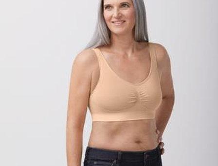 Amoena Becky Non Underwire Soft Mastectomy Bra Rose Nude 44677