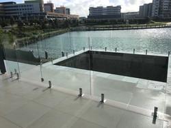 glass pool fence birtinya see thru clear