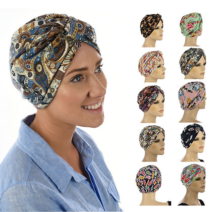 Soft Floral Print Turban - Assorted Colours
