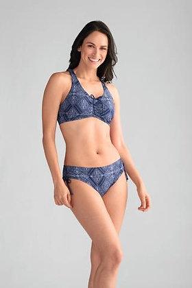 Amoena Macau Non Underwire Mastectomy Bikini 2 Piece Set Blue 71267/71266