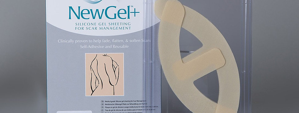 NewGel silicone Scar Management Silicone Gel Shapes For Breasts - Kit 2 Anchors