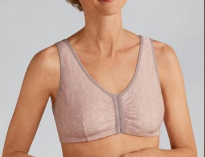 Amoena Frances Non Underwire Mastectomy Bra Rose Taupe 2128
