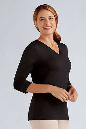 Amoena V-Neck Shirt with bilateral pockets small only