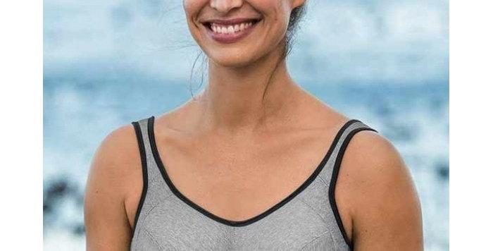 Anita Extreme Control Post Mastectomy Sports Bra Heather Grey 5727x