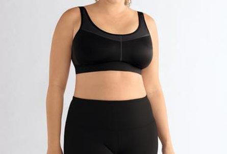 Amoena Power Non Underwire Mastectomy Sports Bra Black 1152