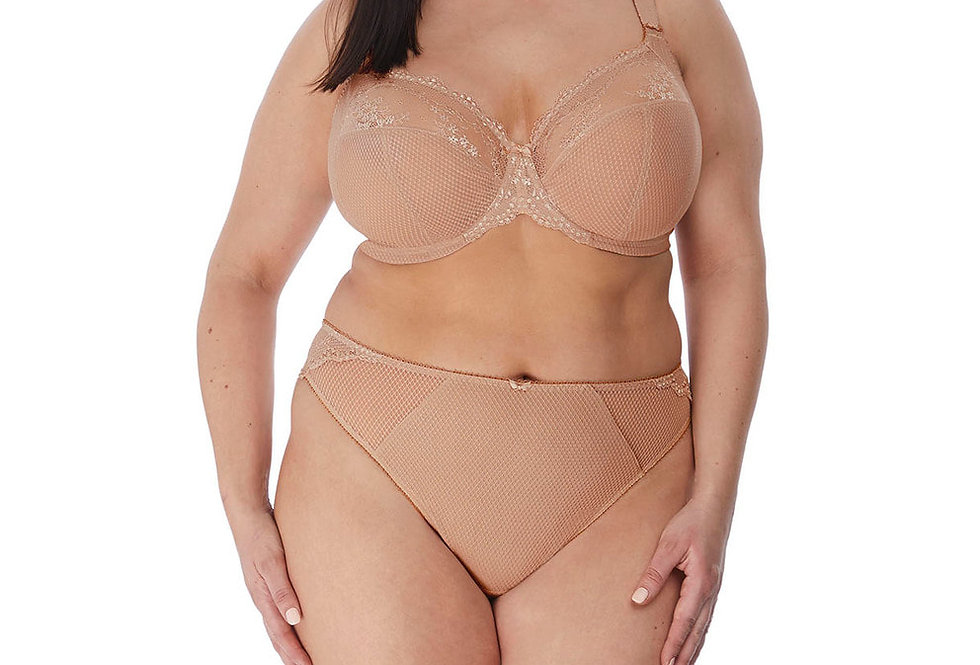 Elomi Charley Underwired Plunge Bra Stretch Fawn EL4382 (Non pocketed)