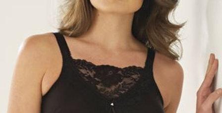 Trulife Jessica Cami Non Underwire Mastectomy Bra Black 4019