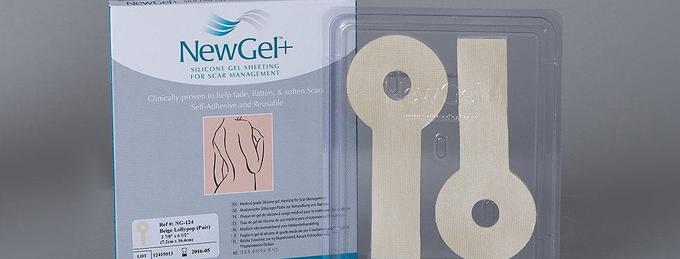 NewGel silicone Scar Management Silicone Gel Shapes For Breasts - Lollypop 2 Pac