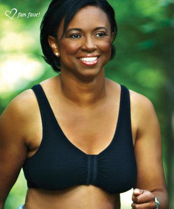 ABC Leisure Front Opening Non Underwire Mastectomy Bra Black