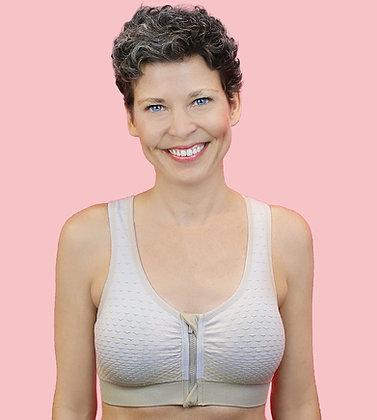 ABC 132 Active Non Underwire Mastectomy Bra Beige