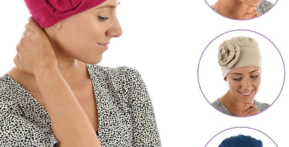 Rosette Cotton Turban-Kerry Small/Medium