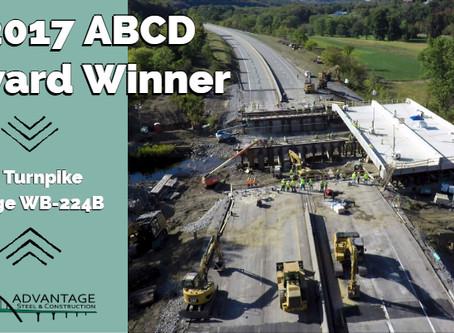 PA Turnpike Bridge WB-224B Receives ABCD Outstanding New Multiple Span Bridge Award