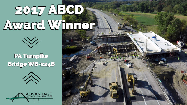 PA Turnpike Bridge WB-224B Receives ABCD Outstanding New Multiple Span Bridge Award