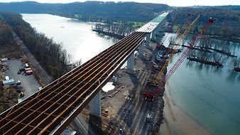 The CSVT River Bridge near Harrisburg, Pennsylvania, was a complex civil engineering project where Pittsburghs Tunstall Engineering applied their expertise to steel erectiin, spreader beams, and more.