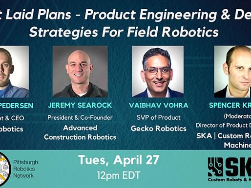 Jeremy Searock Participates in Panel on Field Robotics