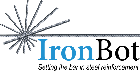 IronBot Logo - IronBot is an autonomous rebar carrying and placing robot.
