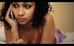 Ariyanna Stokes talking to Iyana on the