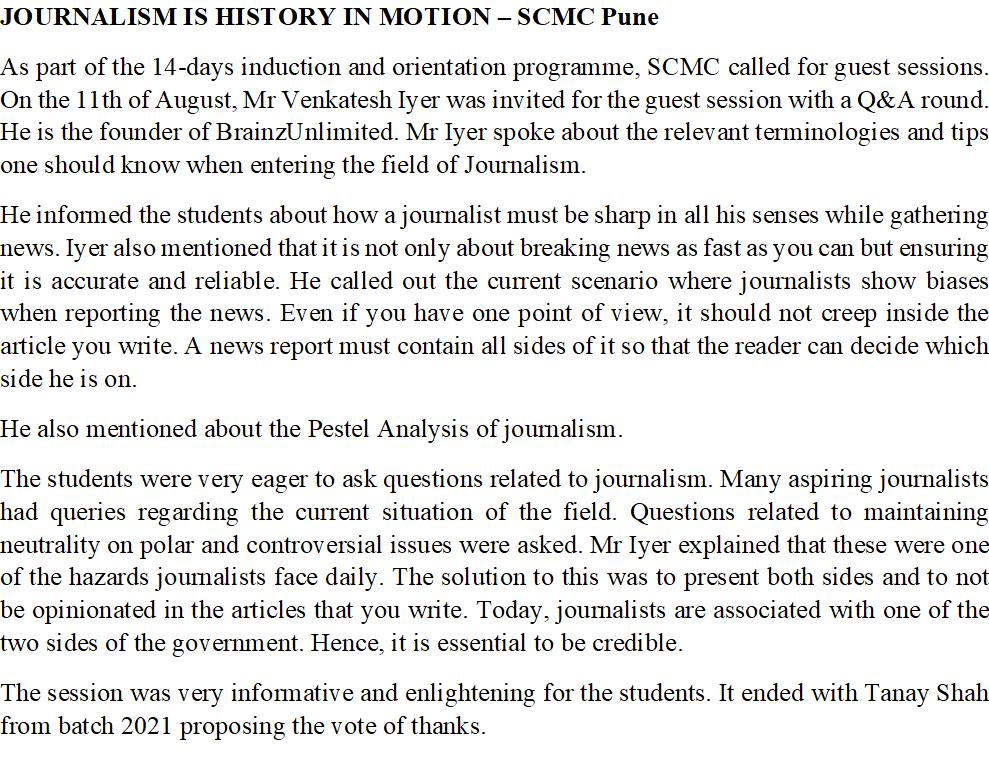 SCMC - Journalism is History in Motion