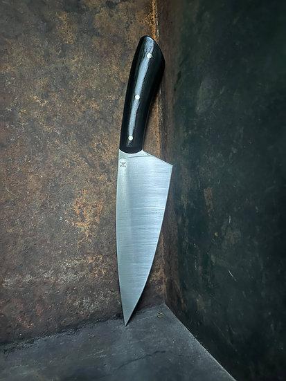 "8"" Chef's Knife - Black Micarta"