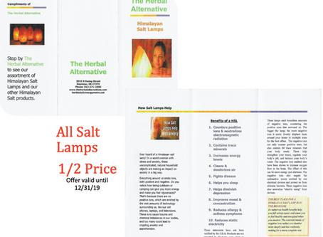 1/2 Price Salt Lamps!