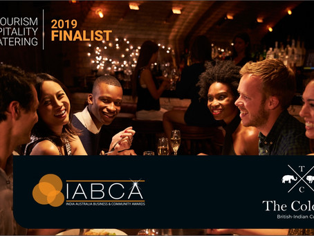2019 IABCA Finalist for Tourism, Hospitality and Catering; The Colonial British Indian Cuisine