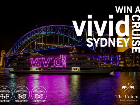 Vivid Sydney Dinner Menu and Sydney Harbour Cruise Voucher Giveaway!